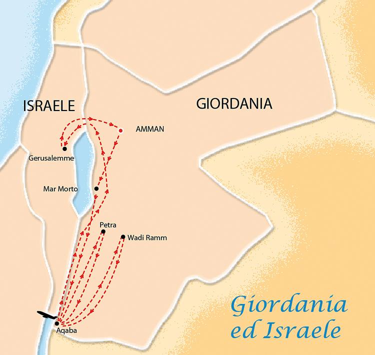 Cartina Israele Giordania.Giordania E Israele Petra E Gerusalemme Mareandotour